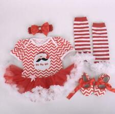 """Reborn Doll Clothes Dress Newborn Baby+Headdress+Shoes+Socks For 20''-22"""" gifts"""