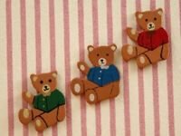 Dolls House Miniature 1/12th Scale Set of  Bear Wall Decorations TA202