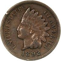 1892 Indian Head Cent Very Fine Penny VF