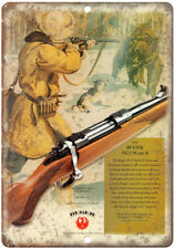 """Ruger M77 Mark II Rifle 10"""" x 7"""" Reproduction Metal Sign"""