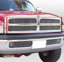 94-01 DODGE RAM PICKUP TRUCK 2DR 4DR FRONT UPPER BILLET GRILLE GRILL INSERT 4PCS