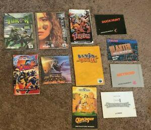 Lot (11) Game manual NES Sega Genesis N64 Metroid Castlevania II Simon's Quest..