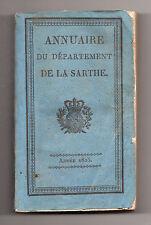 Annuaire du Département de la Sarthe - Année 1825