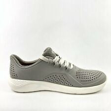 Crocs Gray Lite Ride Women Sz 7 Pearl Pacer Sneaker Athletic Shoe Lace Up 205234