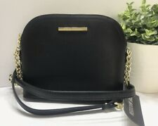 NEW Steve Madden Women's Bmarylin  Black Gold Chain Crossbody Bag Purse Handbag