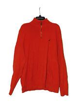 Nautica Orange Sweater XL Men 1/4 Zip