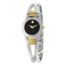Movado Amorosa Black Dial Stainless Steel Ladies Watch 0606893