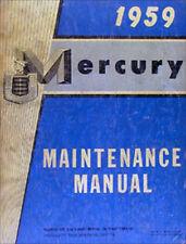 1959 Mercury Negozio Manuale 59 Monterey Montclair Parklane Originale
