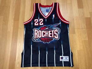 VINTAGE AUTHENTIC Clyde Drexler SIZE 40 Houston Rockets Champion NBA Jersey X170