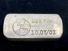 WEM Wechsler Manufacturing Enterprises Hand Poured .999 10 oz fine silver bar