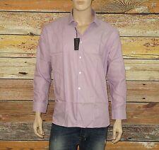 John Varvatos Shirt in Pink Size 17½ x32/33 SLIM Button-Down 100% Cotton $98.00