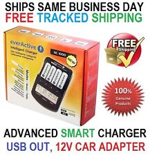 everActive NC 1000 Plus Smart Fast Charger 4x AA/AAA with USB out +12V, EU plug