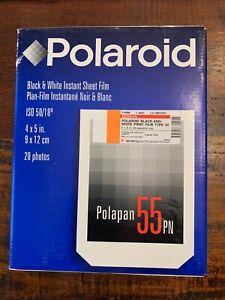 Polaroid 55 PN Black & White (20 Photos) Film Positive/Negative 4x5 EXP 6/99
