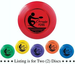 Champion Sports 95 Gram Competition Plastic Frisbee, Assorted Colors (Pack of 2)