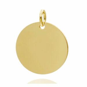 Gravurplatte rund , ca.16mm , Echt Gold 333(8Karat), auf Wunsch mit Gravur