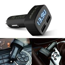 4 in1 3.1A Dual USB Car Charger Temperature Ammeter Voltmeter Monitor For iPhone