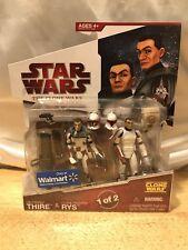 Star Wars The animated Clone Wars 2008 Lt. Lieutenant Thire & Clone Trooper Rys