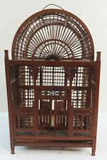 Antique Ornate Wood Bird Cage Spindles & Wood Pin Construction Ca.1890's