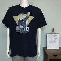 Airplane Movie Graphic T-shirt Men's 2XL Otto The Auto Pilot Navy Blue
