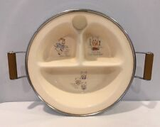 VTG 1940's Excell Chromium Baby Food Warmer Three Little Pigs Nursery Rymes