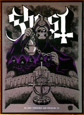 GHOST El Rey Signed By All 6 Ltd Ed HUGE RARE Litho Poster! Meliora Prequelle