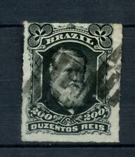 Brazil 1878-9 SG#62 200R Emperor Pedro II Rouletted Used #A22866