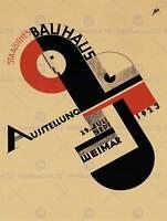 EXHIBITION BAUHAUS WEIMAR ICON GERMANY VINTAGE RETRO ADVERTISING POSTER 1642PY