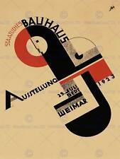 Icono de exposición Bauhaus Weimar Alemania Cartel De Publicidad Retro Vintage 1642PY