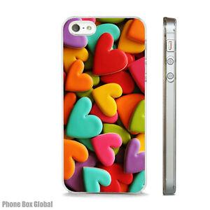 BRIGHT HEARTS  FUNKY VIBRANT CASE FITS  IPHONE 4 4S 5 5S 5C 6 6S 7 8 SE PLUS X