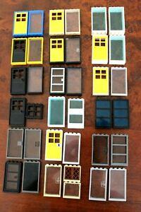 Set of 2 LEGO Door and window or 2 Doors City Town Police Jail 60596