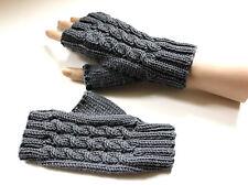 Knitting Pattern for Amberley Fingerless Gloves (0044) - Knitted on 2 Needles