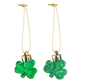 36 Pieces St. Patricks Day Shamrock Ornaments Green Good Luck Decoration Clover