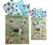 New Beagles Dog Breed Gift Bags Set of Two with Tissue Paper Beagle by Ruth M
