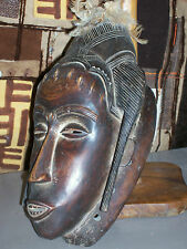 old African mask. ancien Masque africain cote d'ivoire