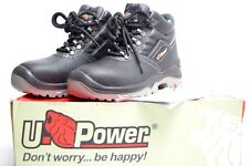 U POWER LEATHER LIGHTWEIGHT WATERPROOF STEEL TOE CAP SAFETY BOOTS unisex 36s3