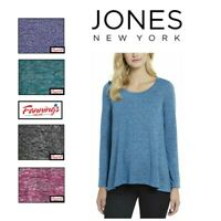 Jones New York Women's Long Sleeve Knit Tunic Top SIZE COLOR VARIETY J51 J52