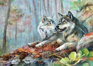 Malen nach Zahlen Wölfe Schipper 24 x 30 cm Tiere Vorlagen Malvorlagen Wolf