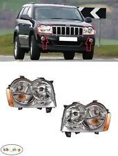 FOR JEEP GRAND CHEROKEE WH 2005 - 2007 NEW FRONT HEADLAMPS PAIR LEFT + RIGHT LHD