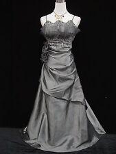 Cherlone Grey Ballgown Wedding Evening Bridesmaid Formal Full Length Dress 14-16