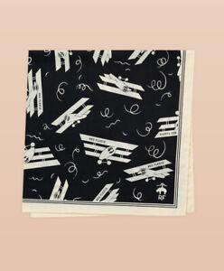 Brooks Brothers Red Fleece Cotton Cessna Print Handkerchief JAPAN