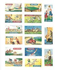 CIGARETTE/TRADE/CARDS. Ewbanks. SPORTS & GAMES. (1586). (Complete Set of 25).