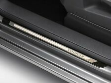 GENUINE VW TOURAN FRONT + REAR STAINLESS STEEL DOOR SILL KICK PLATE TRIMS SET