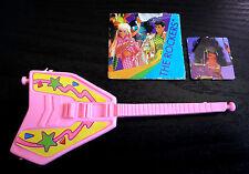 Barbie Doll Accessories Electric Guitars Music Instrument Pink Miniature Diorama