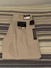 Savane Pants Expandable Comfort Straw 42x32 Pleated No Iron Expandable Waist