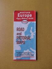 MAP ESSO GAS SERVICE ADVERTISING WESTERN EUROPE PICTORIAL HUMBLE OIL COMPANY
