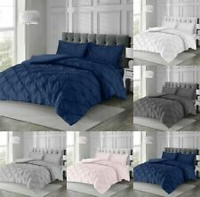 INTIMATES ANGELICA Pintuck Duvet Cover set With Pillow Case Quilt Cover Bedding