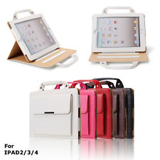 For Apple iPad 2/3/4 Stand Handbag Carry Case Cover Storage Compartment    !!