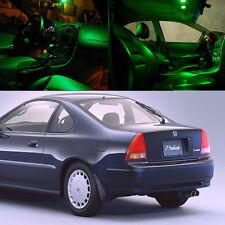 Xenon Green LED Light Bulb Interior Package Kit For Honda Prelude 1992 - 1996