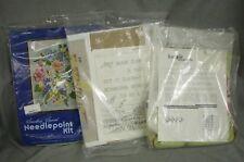 Lot of 3 Vintage Floral Needlepoint Kits Something Special Kappi Originals Dad