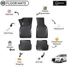 Custom Molded Rubber Floor Mat for Audi A6 2005-2010 (Black)